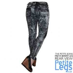Freya Slate Acid Wash Tie Dye Skinny Jeans | UK Size 12 | Petite Leg Inseam Select: 26 or 28 Inches